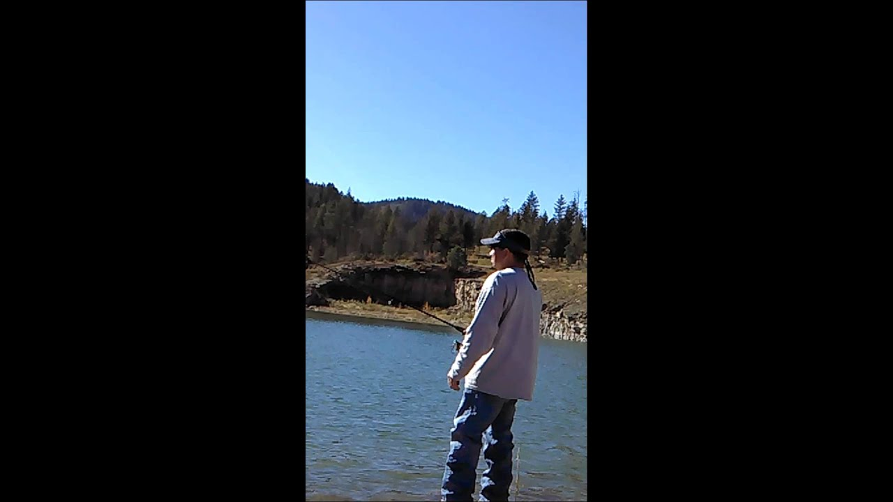 Trout fishing grindstone lake ruidoso nm late summer for Fishing report nm