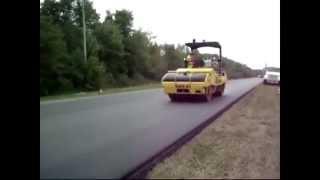 видео Аренда катка для проведения дорожно-строительных работ