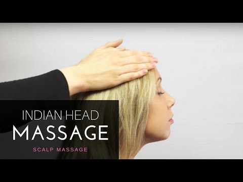 Indian Head Massage [Unintentional ASMR] - Relaxing Scalp Massage Tutorial