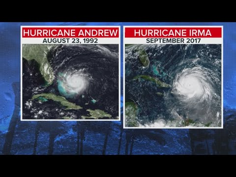 Hurricane Irma Vs. Hurricane Andrew In 1992