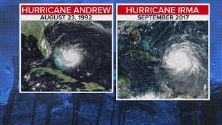 Hurricane Irma Vs. Hurricane Andrew In 1992
