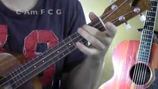 LOCKED AWAY ★ UKULELE TUTORIAL ★ R. City ft Adam Levine
