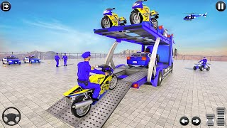 Police Bike Transport Truck- Best Android IOS Gameplay screenshot 1