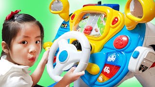 엄마는 운전을 너무 못해요!! 서은이의 뽀로로 운전연습 전동자동차 주차 놀이 타요 버스 운전놀이 강습 Pororo and Tayo Driving Toys for Kids