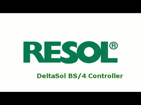 resol deltasol bs solar hot water controller youtube. Black Bedroom Furniture Sets. Home Design Ideas