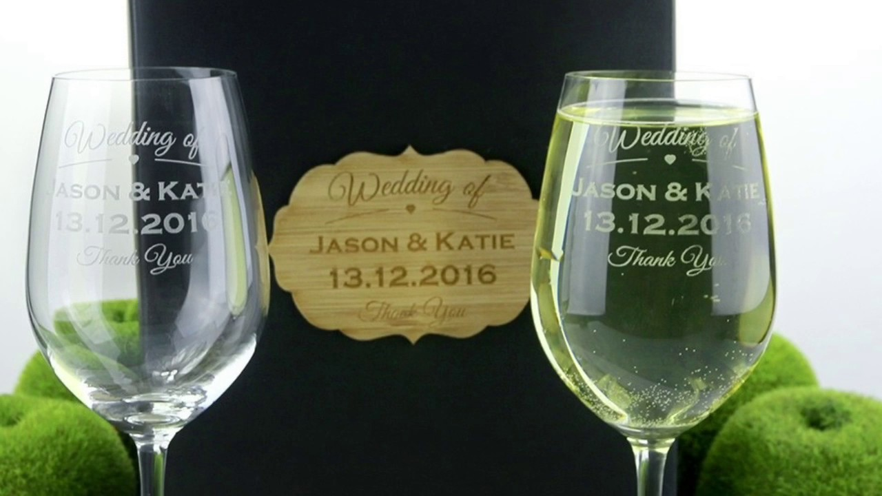 Laser engraved wedding glasses at factory direct prices Unique wine glasses australia