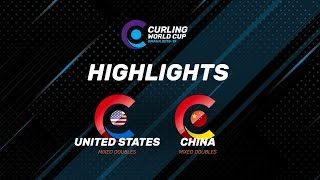 HIGHLIGHTS: United States v China – Mixed Doubles - Curling World Cup second leg, Omaha, USA