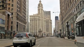 Driving Downtown - Michigan Ave – Chicago Illinois