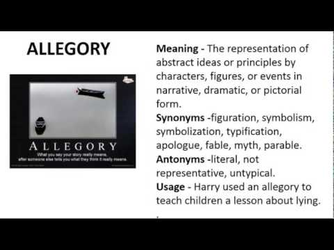 Vocabulary Made Easy  Meaning of Allegory, Synonyms, Antonyms and its Usage
