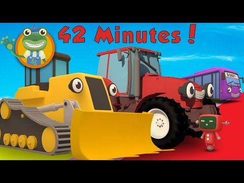 Danny The Digger and More Big Trucks For Children | Gecko's Garage