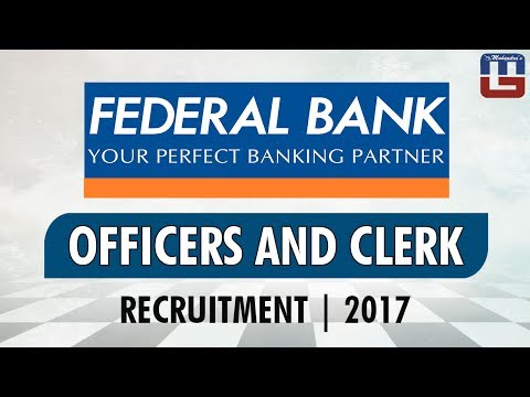 Federal Bank | Officers & Clerks | Recruitment | 2017
