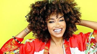 My BIG Voluminous Curly Natural Hair Tutorial (Bri Hall)