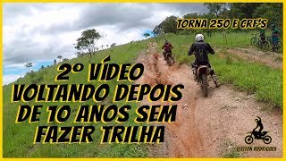 Trilha de moto - 3 roias na Serra da Cantareira   Tornado e CRF s voltando pro barro   Cleitonr187