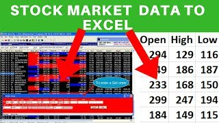 Import Stock Market Data to Excel