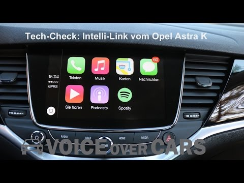 Tech Check Opel Astra K 2016 Intelli Link Apple CarPlay Android Auto Navi Infotainmentsystem