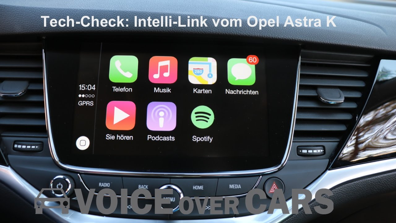 tech check opel astra k 2016 intelli link apple carplay android auto navi infotainmentsystem. Black Bedroom Furniture Sets. Home Design Ideas