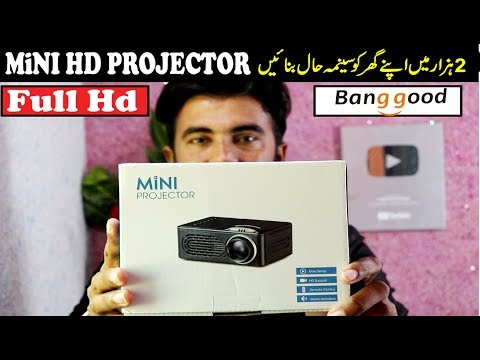 Mini Hd Projector Full Review & Unboxing in Budget Price You can buy on bangood