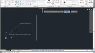 Зеркальное копирование объектов в AutoCad 2011