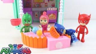 Baykuş Kız ve Maşha Sıcak Soğuk Oyunu Oynuyor Pjamaskeliler Çizgi Film İzle