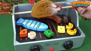 Learn Foods Names with Toy Grill for Kids! thumbnail