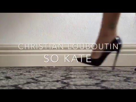 94733c8de150 Christian Louboutin So Kate 120mm Black Patent Review - YouTube