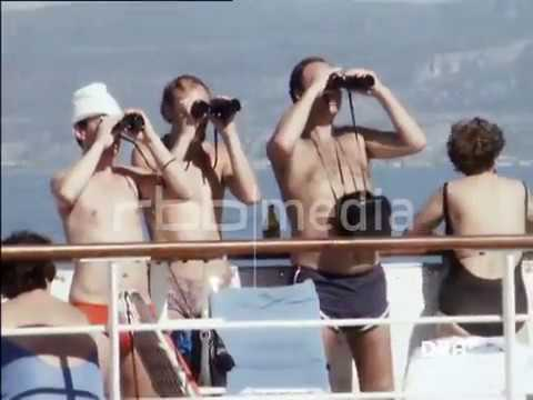 GDR's cruise ship MS Arkona - Departure from Cuba and volleyball on deck 1986