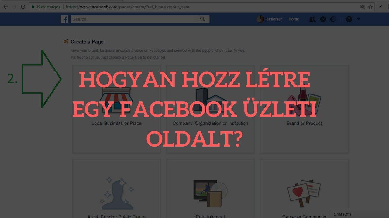 edb0243346 Facebook üzleti oldal létrehozása - Lépésről lépésre - YouTube