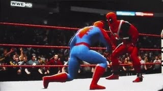 wwe 13 spider man vs deadpool all caw s4 ep4 part 2
