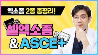 엑소좀주사 2종 셀엑소좀 & ASCE - 효과, 특징, 차이점 총정리! (feat.리즈벨클리닉)