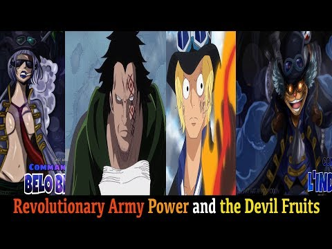 All Known Members Of Revolutionary Army Power and the Devil Fruits One Piece