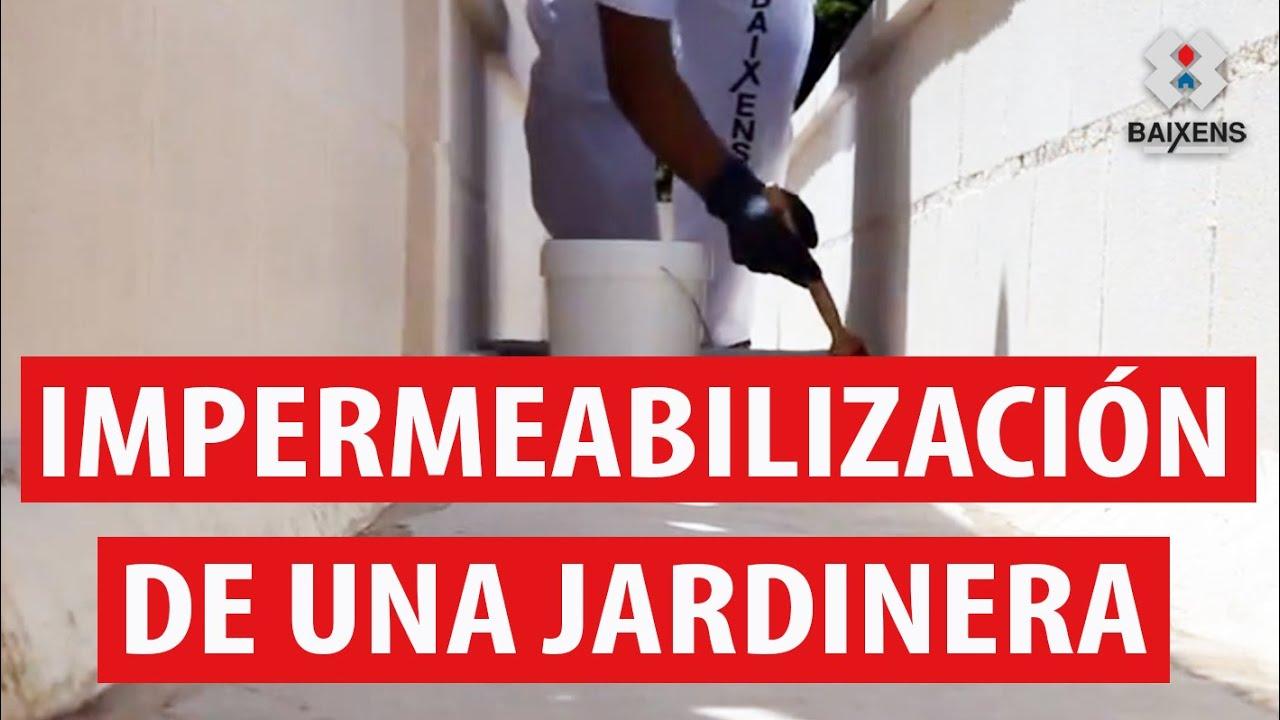 Impermeabilizaci n de una jardinera youtube for Jardineras con bloques de hormigon