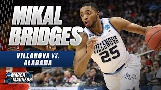 Mikal Bridges shines in Villanova\'s win over Alabama