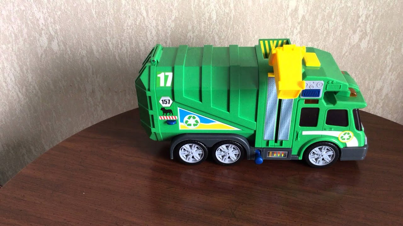 Fast Lane Action Wheels Garbage Truck Youtube