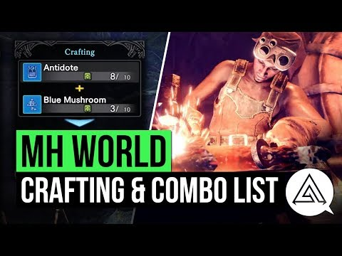 Monster Hunter World | New Crafting Options, Combo List & Shortcuts