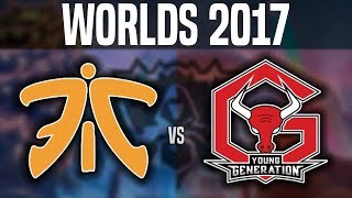 FNC vs YG - Worlds 2017 Play In Day 4 - Fnatic vs Young Generation | Worlds Championship 2017