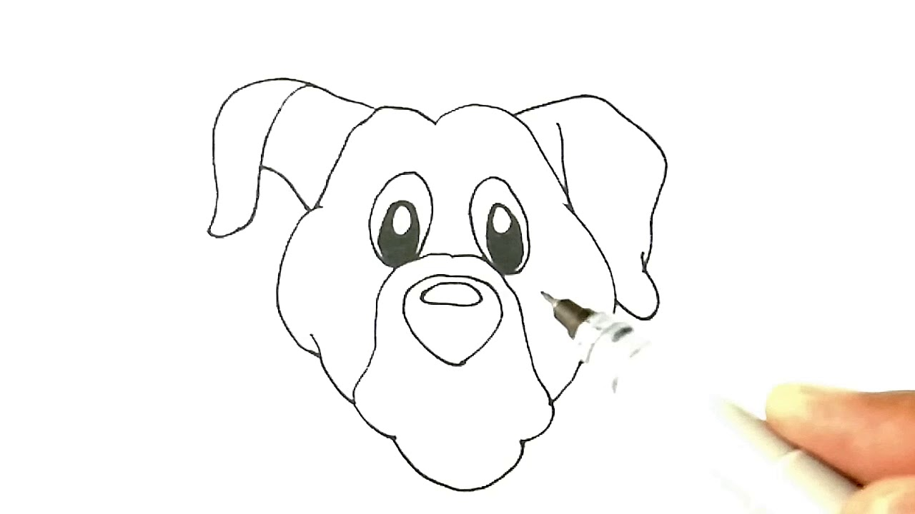 How to draw dog's head for kids | Coloring pages dog's head for kids