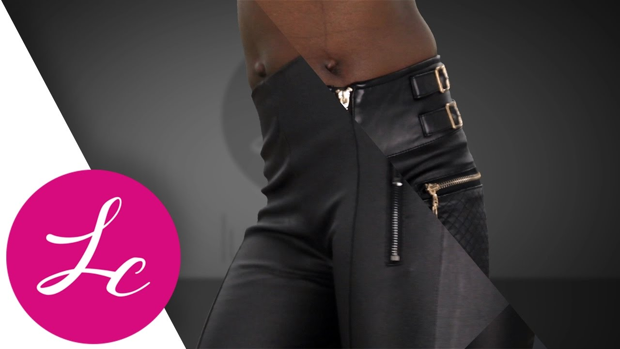 8682f8467b24 COM | NEW WOMENS LEATHER LOOK TROUSERS LADIES BLACK SLIM FIT SEXY JEANS | LUSTY  CHIC KIT89
