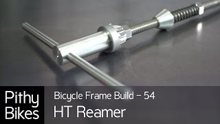 Bicycle Frame Build 54 - How to build head tube reamer facer