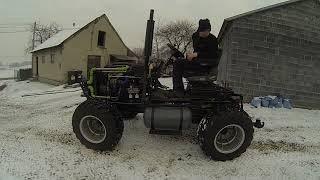 Ciągnik Traktor SAM 4x4 1,7td isuzu 82KM z rewersem skrzyni