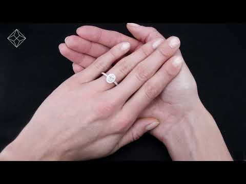 Georgina GIA Oval Diamond Halo Platinum Engagement Ring - UT82
