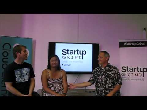 Filipina & Ben Pate (ZenPlanner) at Startup Grind Denver