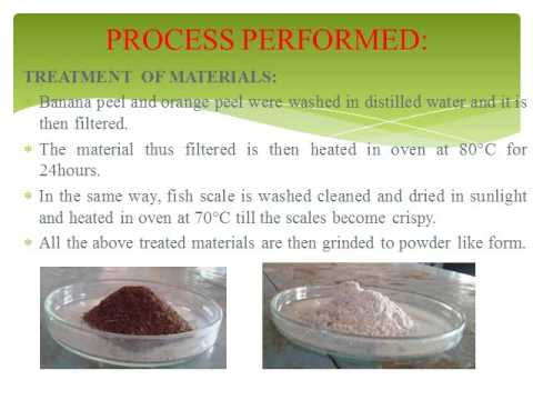 B.E Final year project on heavy metal removal from industrial waste water using natural adsorbents