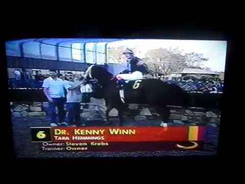 "Jockey Tara Hemmings wins aboard horse ""Dr Kenny Winn"""