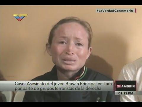 Sepelio de Bryan Principal, adolescente asesinado por protestas violentas en Lara