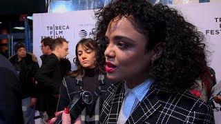 Tessa Thompson for 'Little Woods' Tribeca Film Festival 2018 Red Carpet Interview