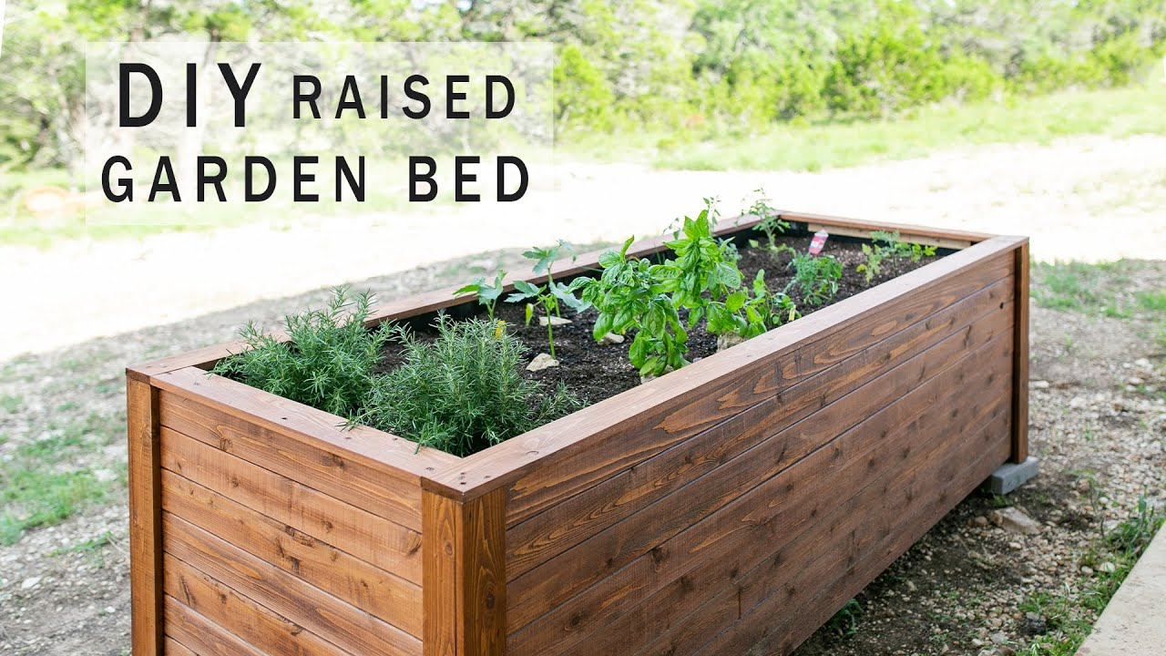 Diy Raised Garden Bed With Drawers Youtube