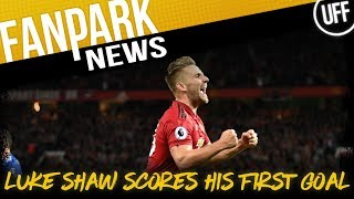 LUKE SHAW'S FIRST EVER GOAL ENSURES 3 POINTS FOR UNITED | FanPark News