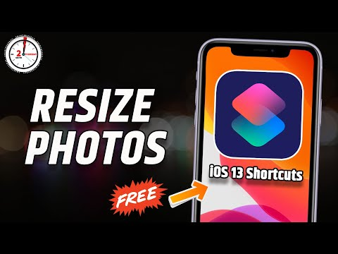 Resize image using Free iOS 13 Shortcuts - Resize images height and width