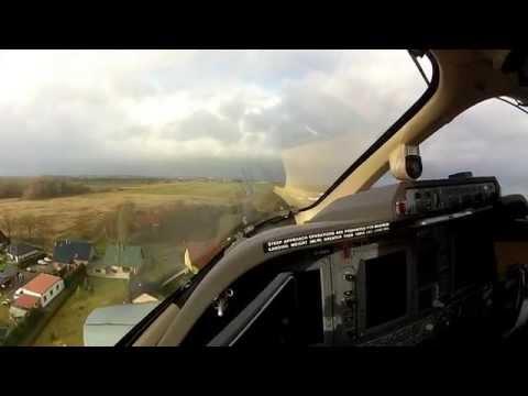P180 Avanti II max crosswind landing.