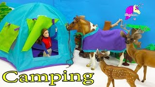 Breyer Horses Traditional Doll & Horse Horseback Camping Playset with Pop Up Tent